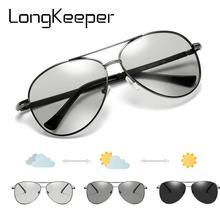 New Pilot Photochromic Sunglasses Men Fashion Polarized Sun glasses Male Driver Goggles Metal Glasses Oculos de sol