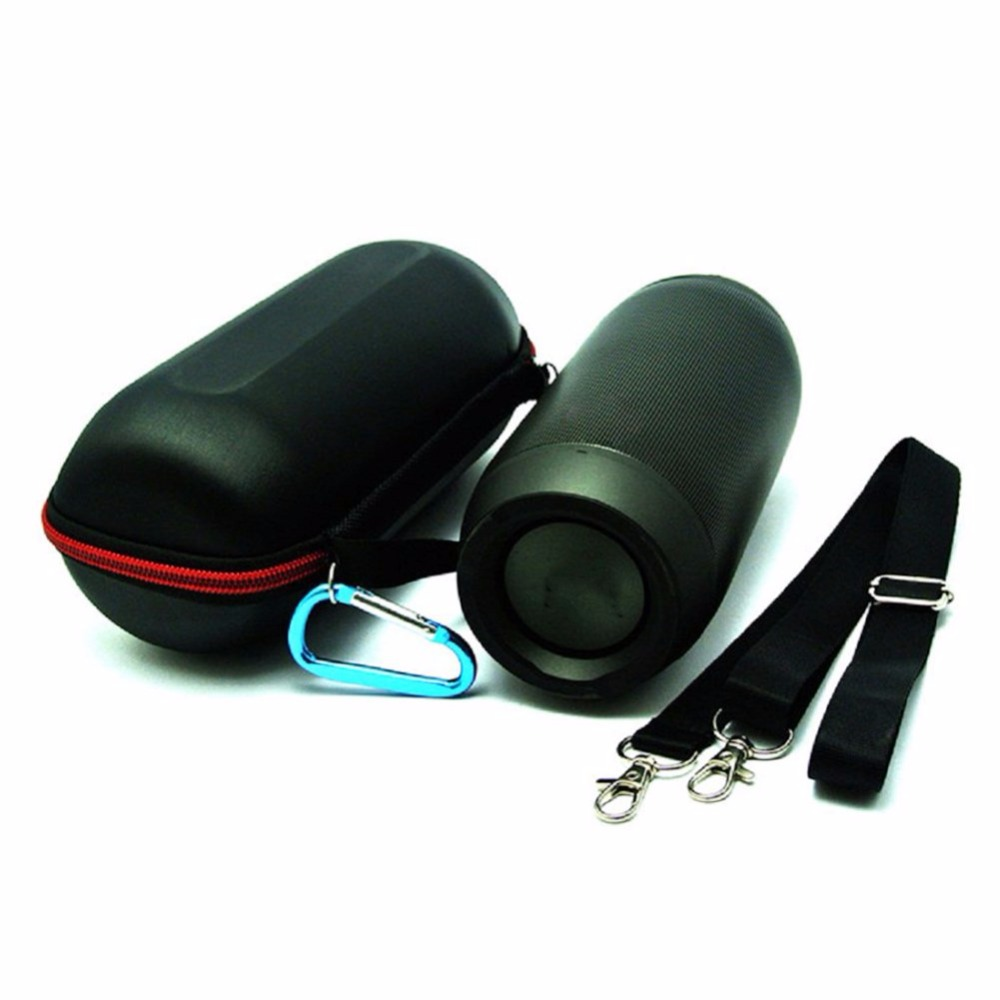 Soft Wireless Bluetooth Speaker Case With Belt Carabiner Keychain For JBL Pulse2 Pulse 2 Zipper Speaker Bag Cycling accessories