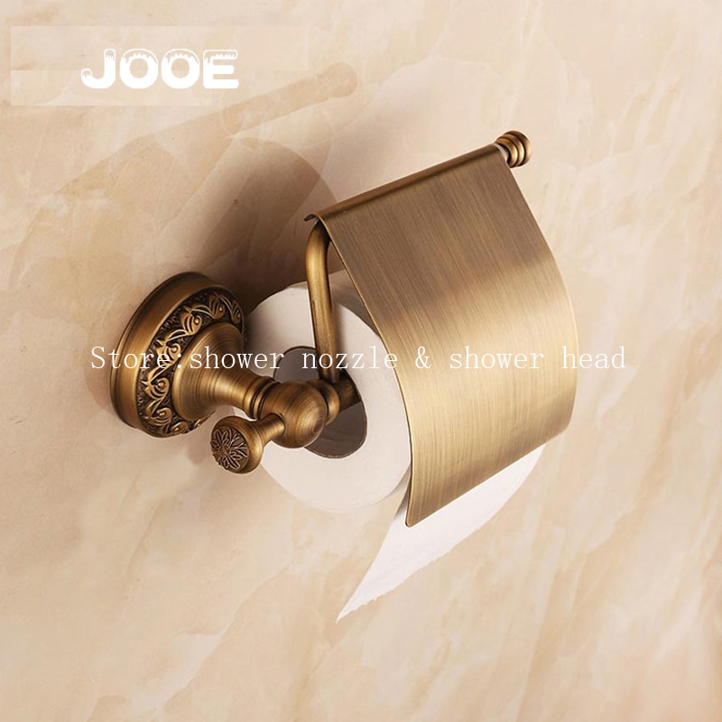 Jooe Antique bronze finishing Toilet paper holder brass porta papel higienico Tissue Holder Bathroom Accessories раковина на пьедестале porta antique lp236 p236