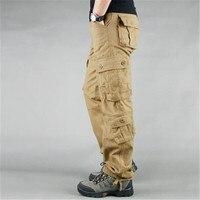 Модные мужские брюки карго в стиле милитари, повседневные тактические военные штаны с несколькими карманами, весенние хлопковые армейские ...