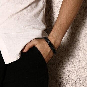Engraved Genuine Leather Medical Alert Bracelet Stainless Steel 2