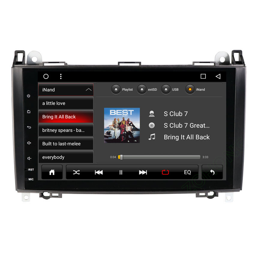 2 Din 8 Core Car Multimedia Player GPS Android DVD Automotivo For Mercedes Benz Sprinter B200