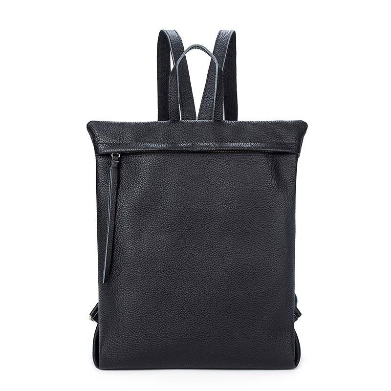 Nouveau sac à dos pour ordinateur portable pour homme grande capacité multifonction affaires sac à dos mâle décontracté en cuir véritable hommes sac de voyage sac à dos