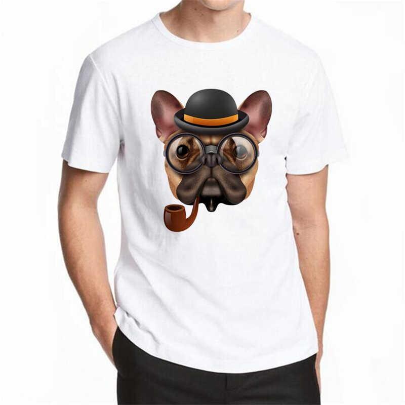 2018 3dかわいい犬tシャツ男性夏トップスtシャツプリント動物tシャツ男性oネック半袖ファッションtシャツプラスサイズ5xl