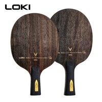 Professional LOKI Ebony Carbon Ping Pong Racket 9 Layers Table Tennis Blade Arc Offensive quick attack long short handle V9 bat
