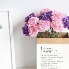 1 pc Silk Carnation Stamen Wedding Artificial Flowers Flower Fake