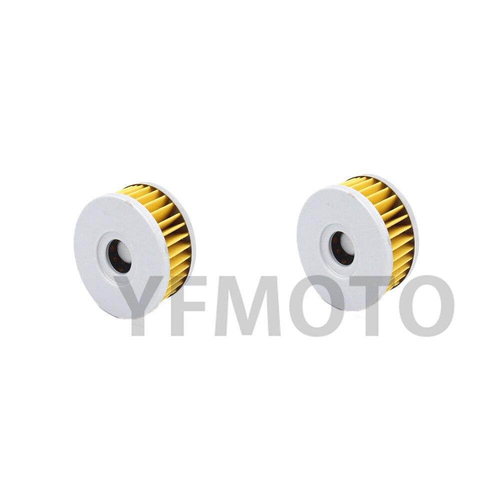 2 Pcs Motorcycle Oil Filter For Suzuki DR-Z250 K1,K2,K3,K4,K5,K6,K7 01-07 DR250 L,M,N,P Off Road 90-93 TU250 X 98-00