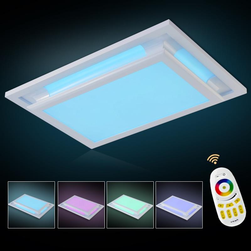Простой белый светодиодный потолочный светильник AC110 220 В современный светодиодный потолочный светильник для гостиной Спальня Кухня свети... ...