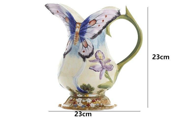 Vaso de cerâmica ornamentos jardins estilo pastoral