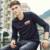 Pioneer camp hombres camiseta marca clothing 2017 nueva primavera de la moda elástica camiseta de los hombres de algodón de manga larga de las camisetas de los hombres 622102