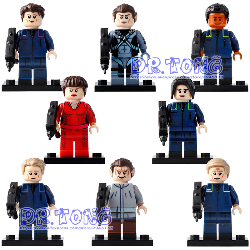 DR.TONG 80pcs PG8054 Uhura Star Trek Block Enterprise Turbine Startrek U.S.S. Enterprise Building Blocks Bricks Toys Child Gifts star trek enterprise spaceship action figure toys star trek beyond into darkness classic model 14 10cm