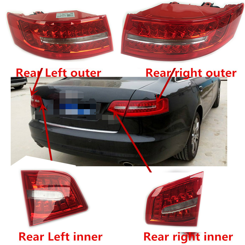 one piece Rear Outside Light LED Tail Lamp Assembly For Audi A6 C6 S6 Quattro RS6