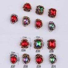 100pc/lot Alloy Nail Art Designs Polish Rhinestone Charm Color Random Crystal Nails Supplies Rhinestone&Decoration#10g