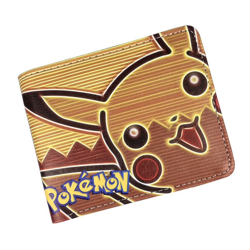 Cartoon Cute Purse Pocket Monster Ball Pokemon Go Kawaii Pikachu Wallets PU Leather Card Holder Bags Gift Teenager Short Wallet pocket monsters 3d pikachu short cosplay wallet pokemon yellow cartoon students gift money bag with card holders free shipping