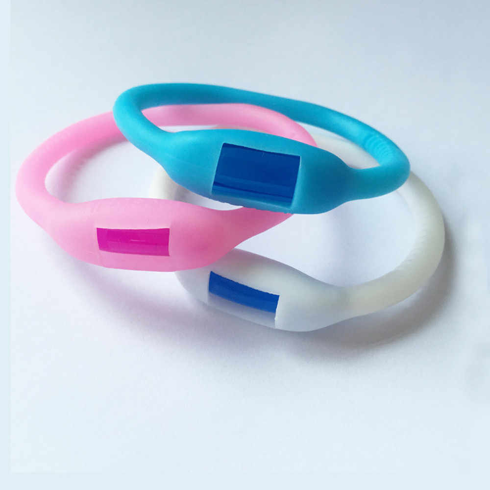 New Colorful Environmental Protection Silicone Wristband Summer Mosquito Repellent Bracelet Anti-mosquito Band safe for children