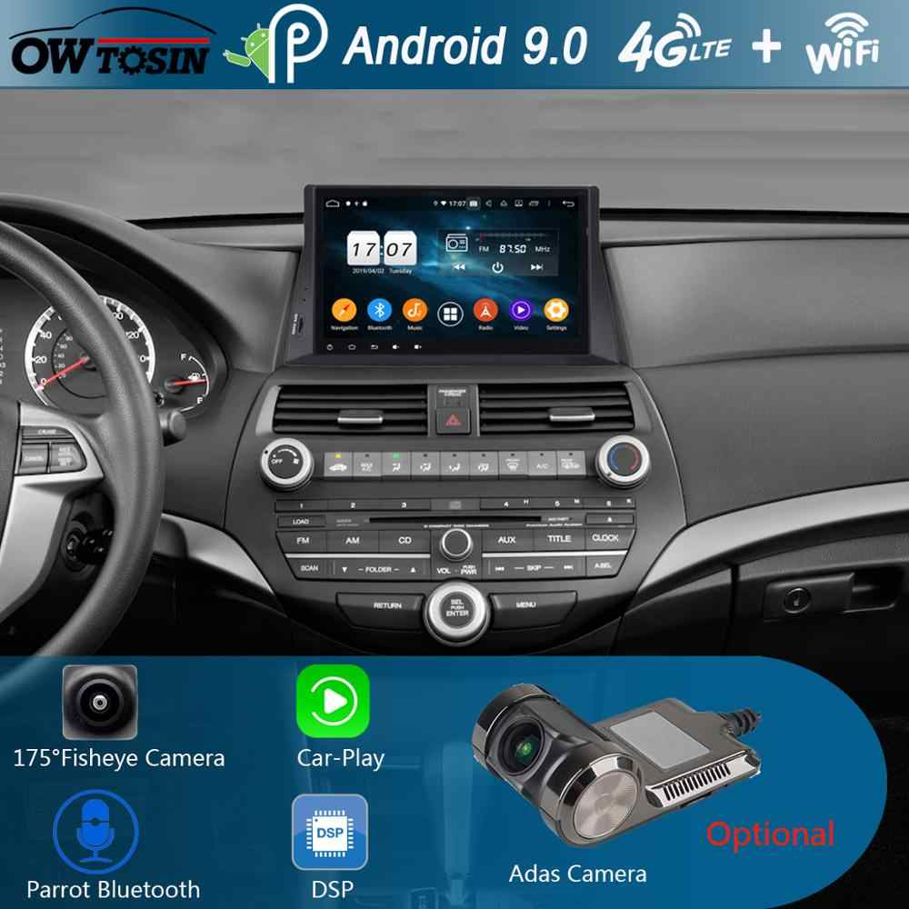 "10.1 ""IPS 8 Core 4G + 64G Android 9.0 Auto Dvd-speler Voor Honda Accord 8 2008 2009 2010 2011 2012 2013 GPS Radio DSP CarPlay Papegaai"