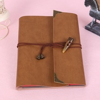 High Quality PU Leather Loose Leaf Notebook Travel Notepad 30 Sheets Paper Birthday Photo Albums Book