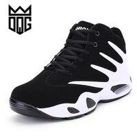 DQG זול כדורסל ספורט אותנטי הדרכה גברים נעלי סניקרס תחרה עד סל Homme Zapatillas Baloncesto Basquet נוגד החלקה