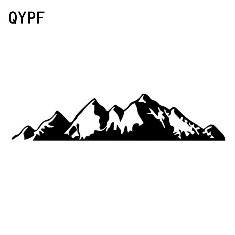 QYPF 18.6cm*4.5cm To Be Absorbed Mountain Too Beautiful Vinyl Car Sticker Vivid Window Decal Black/Silver C18-0260QYPF 18.6cm*4.5cm To Be Absorbed Mountain Too Beautiful Vinyl Car Sticker Vivid Window Decal Black/Silver C18-0260