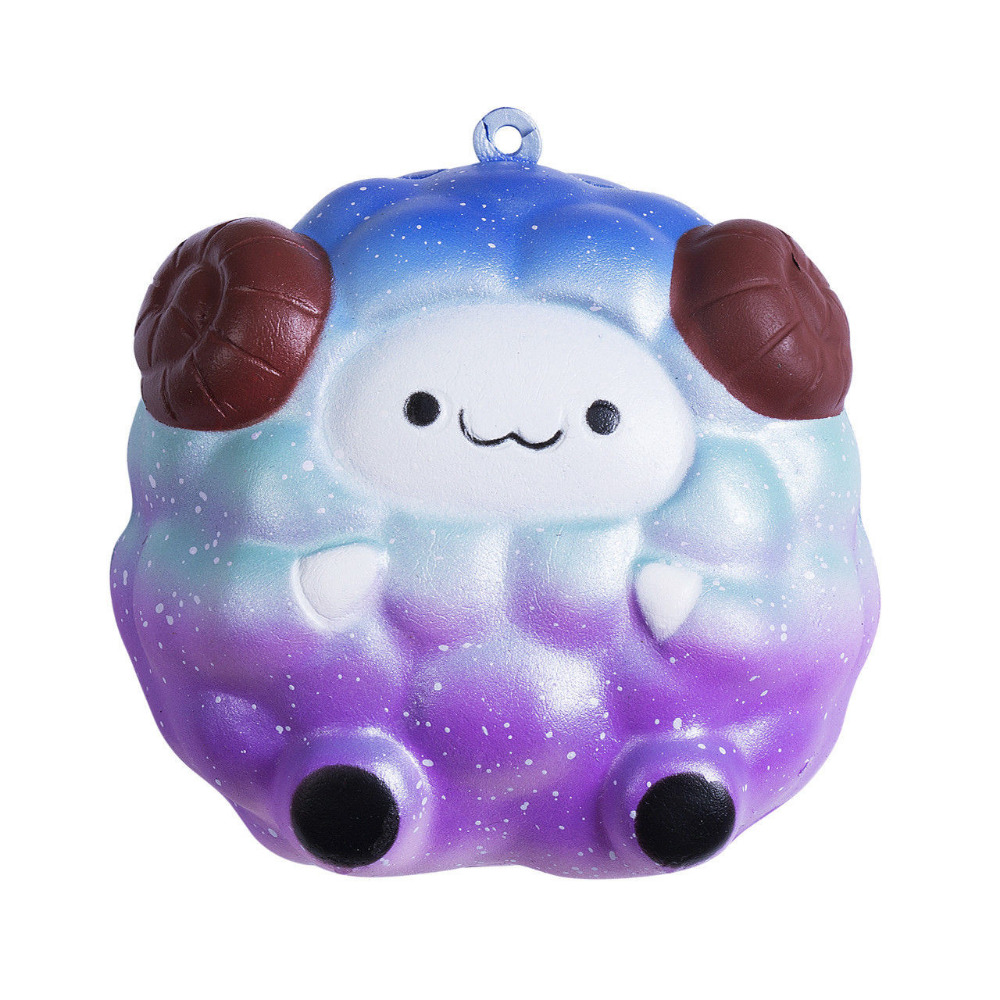 HIINST Novelty Toys Stress PU Soft Sheep Cartoon Rising Squeeze Stress Reliever Toy Phone Straps Ball chains Buffer Y1218*
