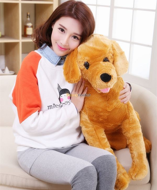 Fancytrader 37\'\' 95cm Lovely Soft Cute Plush Giant Emulational Brown Dog Toy, Free Shipping FT50191(14)
