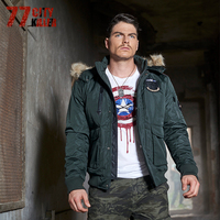 77City Killer Men Jacket New Fashion Slim Fit Young Men Hooded Jacket Casual Windbreaker Army Coats Solid Casual Brand P2523