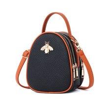 Новая сумка для девочек маленькая сумочка с Пчелкой Женская мини Сумка подростковая Студенческая сумка женская летняя сумка милая сумка для девочек сумки на плечо