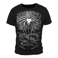 [XHTWCY] High Quality Men Cotton T Shirt Spiderman T shirt For Boys Black Spiderman Tshirt