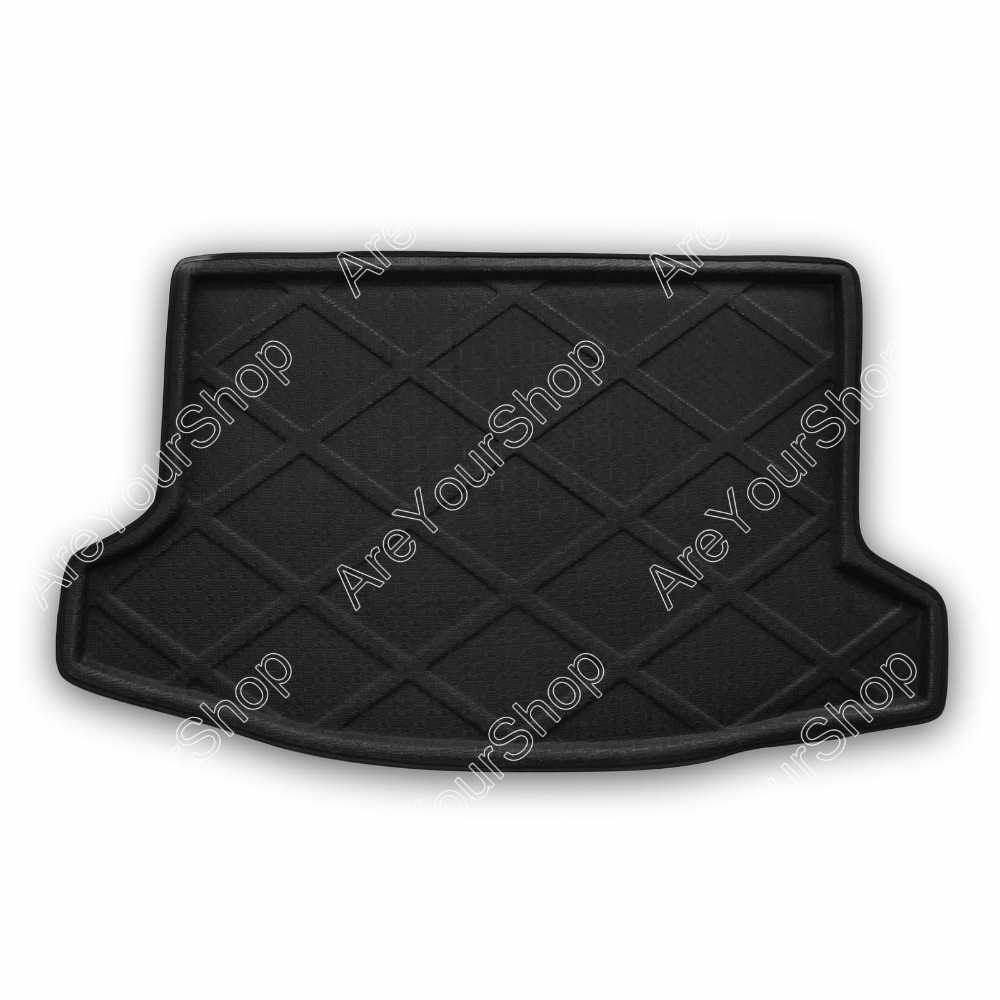 Car Auto Cargo Mat Boot liner Tray Rear Trunk Sticker Dog Pet Covers For Subaru XV Crosstrek 2013-2014 Black Car-Styling Covers car rear trunk security shield cargo cover for subaru xv crosstrek 2012 2013 2014 2015 2016 2017 high qualit auto accessories