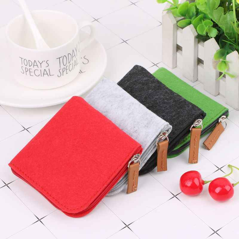 Women Girls Cute Felt Fashion Coin Purse Wallet Bag Change Pouch Key Card Holder