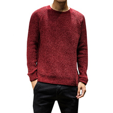 Men Pullover Sweater Solid color Slim Basic Knitted Round Neck Shirt Male Costume Clothes Autumn Winter Warm Fashion New Hot