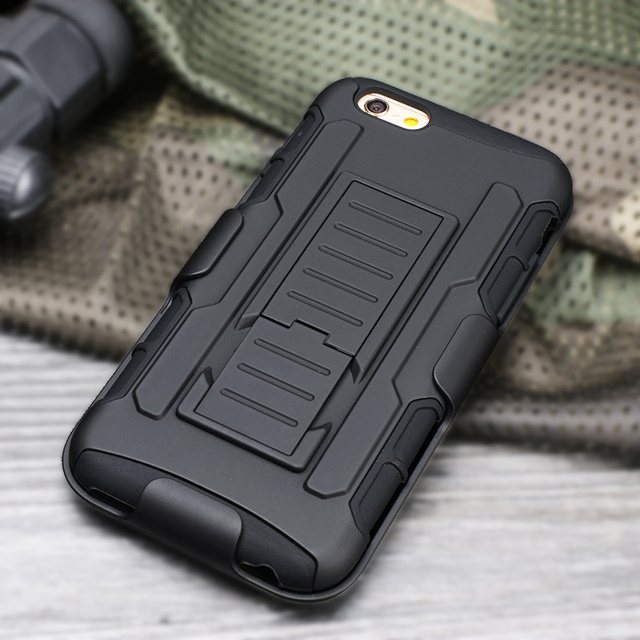 Case For iPhone 6 6s Plus Hybrid Impact Heavy Armor Hard Plastic Soft Silicone Phone Cases Cover For iPhone 6 Belt Clip Holster