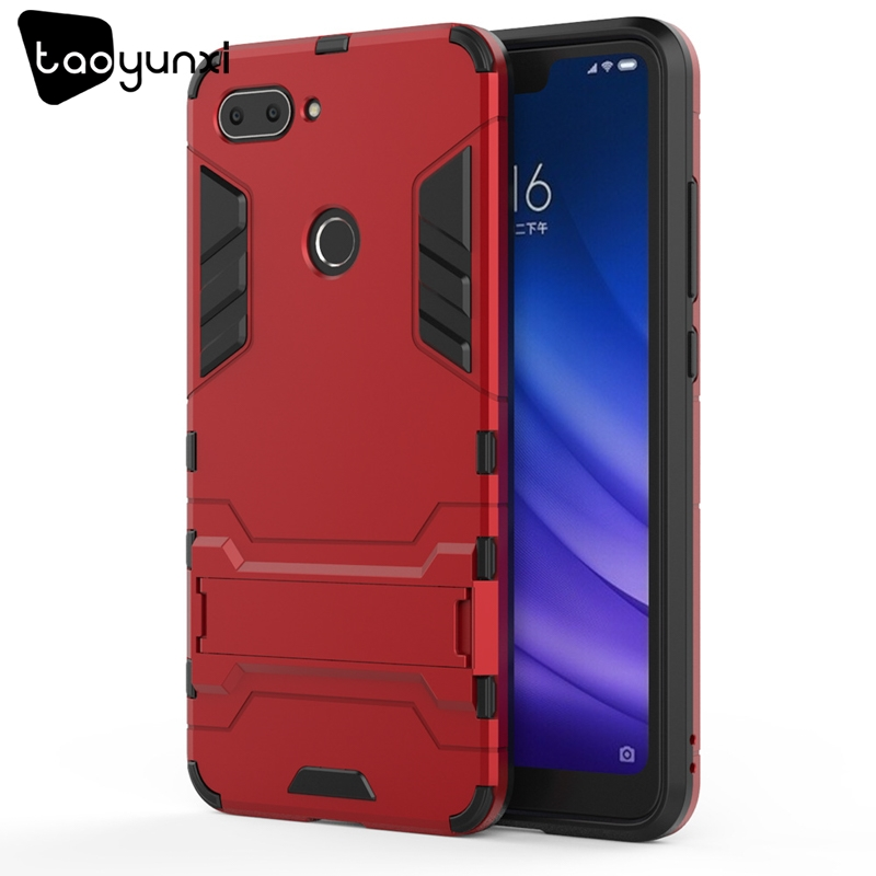 TAOYUNXI Hybrid Kickstand Cases For Xiaomi Mi 8 Lite Case For Xiaomi Mi 8 Youth Xiaomi Mi 8X 6.26 inch Military Armor Covers