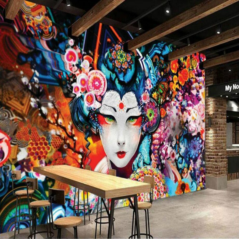3d Wall Paper Hand Painted Japanese Beauty Decorative Painting Wallpaper for Wall Home Improvement 3D Wallpapers Living Room japanese style wallpapers for living room 3d flooring wood wall paper pvc living walls wallpapers roll 3d wall murals wallpaper