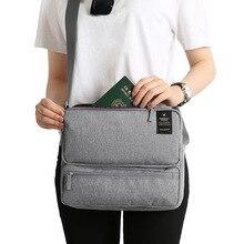 Дорожная сумка на одно плечо, мужская и женская сумка, многослойная Сумка для документов, сумка для путешествий, вместительная сумка