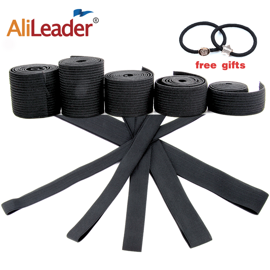 Alileader Wholesale Wig Elastic Band Black Color For Making Wigs and Lace Frontal Closure 1PCS/Lot Free Shipping Wig Accessories