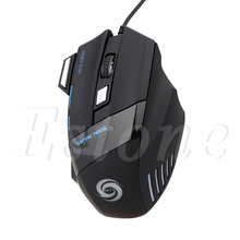 Computer font b Accessories b font New 5500 DPI 7 Buttons LED USB Optical Wired Gaming