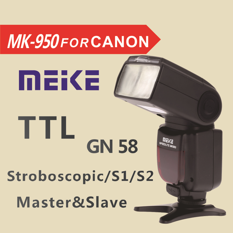 Meike MK950 E-TTL TTL Speedlite Camera Flash mk950 for Canon camera EOS 5D II 6D 7D 50D 60D 70D 550D 600D 650D 700D 580EX 430EX genuine meike mk950 flash speedlite speedlight w 2 0 lcd display for canon dslr 4xaa