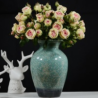 3pcs Artificial Flower Roses White Pink 58cm Long 4 Rose Heads 2 Buds Per Branch Wedding Bride Home Shop Decorative Fake Flowers