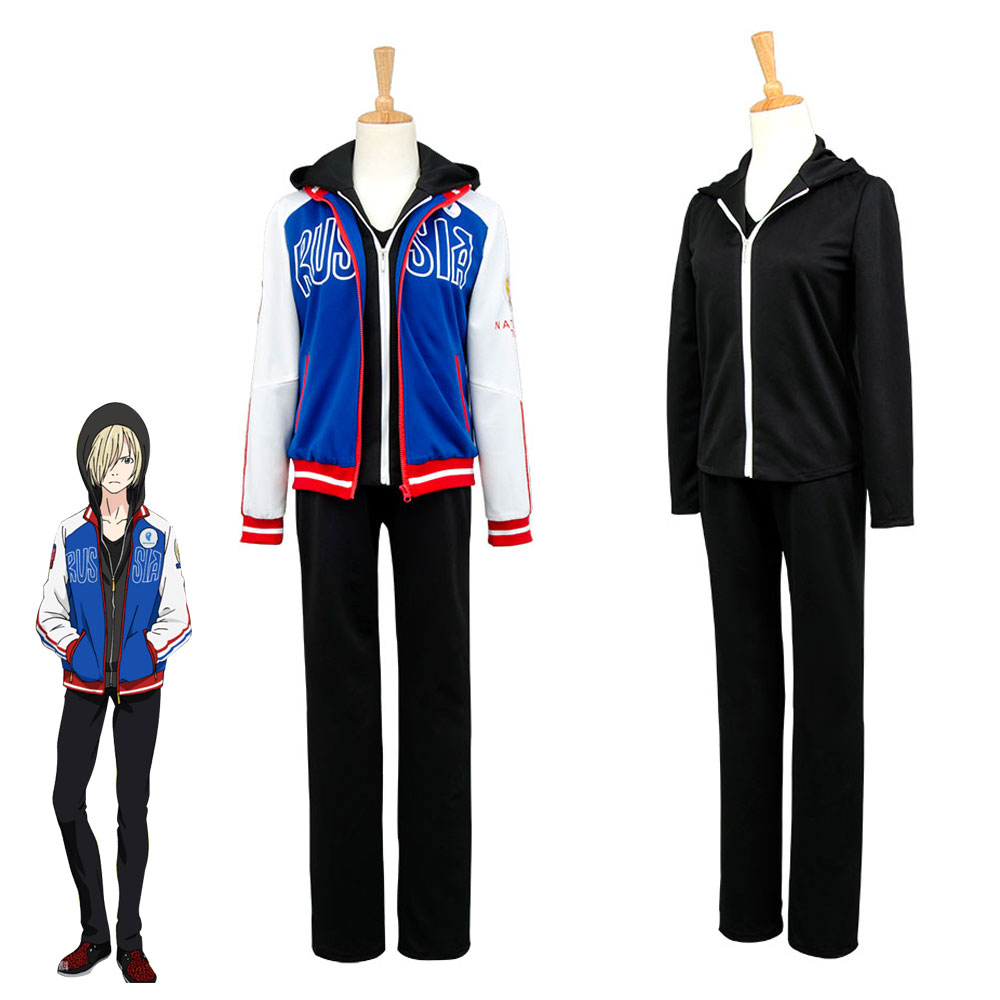Yuri!! Yuuri on Ice Plisetsky Cosplay Costume Outfit Uniform Jersey Full Set Men Women Version