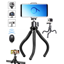 Flexible Mobile Phone Tripod Bracket Wireless Remote Shutter for the iPhone Xs Max 678 Android Samsung S10 S9 Gopro