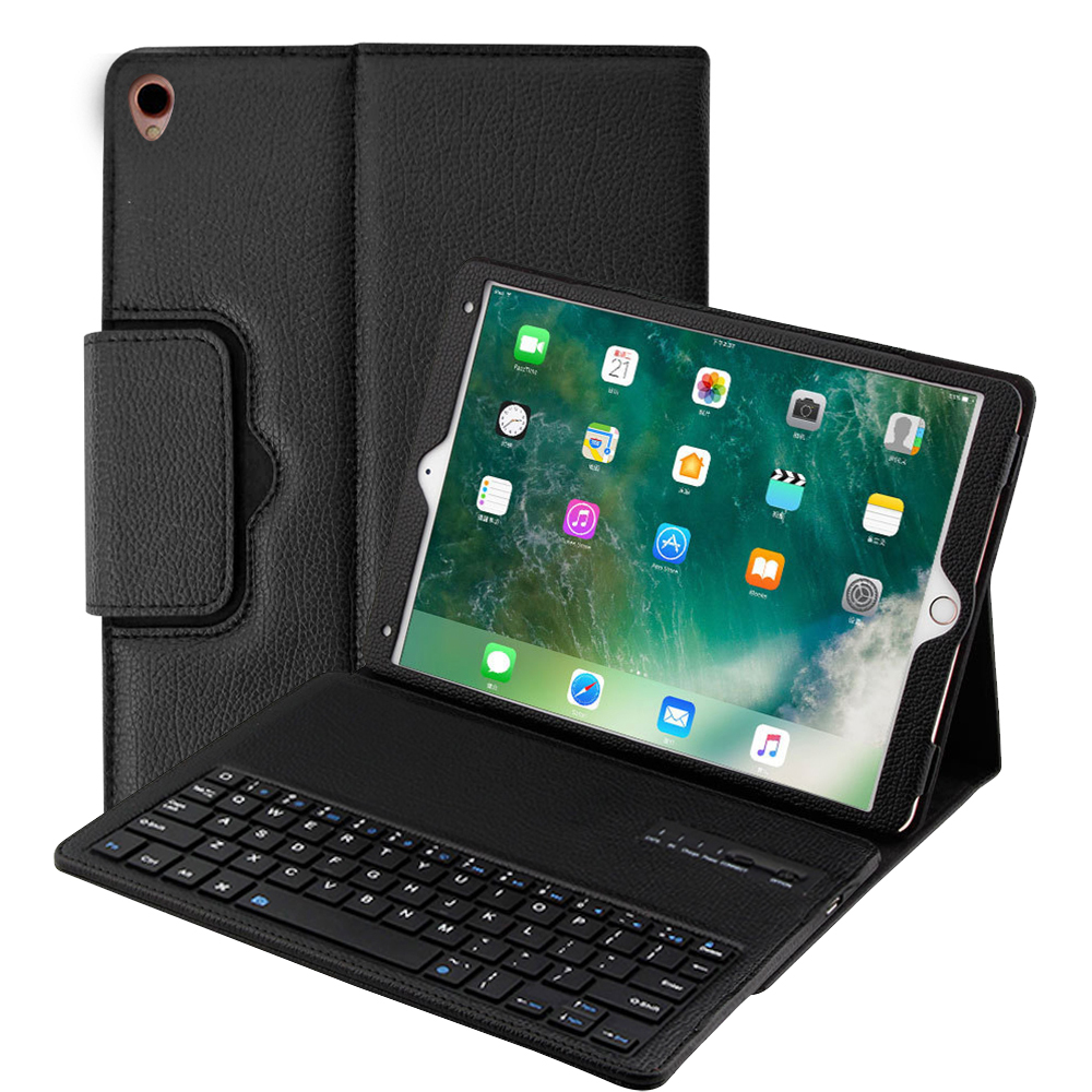Cover Case for iPad 9.7 with removable keyboard case for iPad Pro 9.7 mini 1234 Air 1/2 5th/6th gen solid protective skin