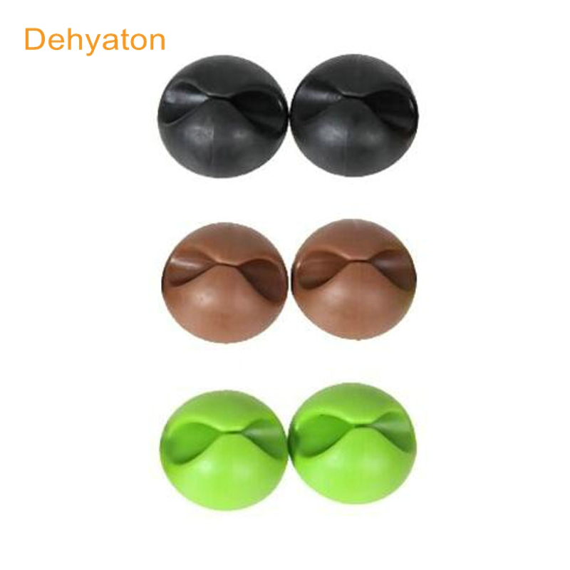 Dehyaton 3Pcs/lot Desktop Cable Clip Cable Winder Wire Organizer Cable Cord Holder Management System Wire Earphone Winder holder