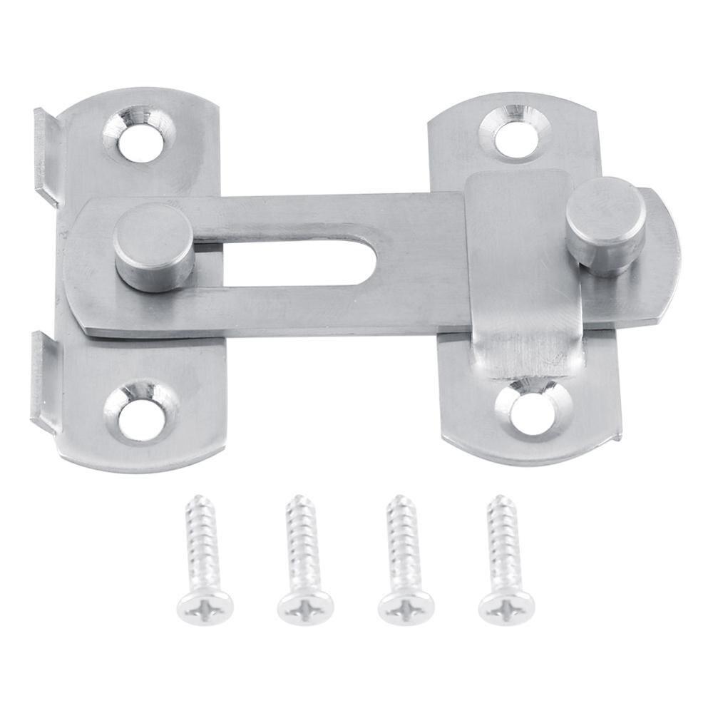 Stainless Steel Hasp Door Hasp Latch Lock Sliding Door Lock for Window Cabinet Fitting Room Accessorries Home Hardware Tool