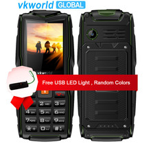 Orijinal VKworld Yeni Taş V3 Mobilephone IP68 Su Geçirmez Flaş Işık 2.4 inç 3000 mAh GSM FM rusça klavye 3 SIM Kart yuvaları