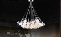 Free Shipping New Modern 19 heads Led Bulb Glass Ball Pendant Lights Glass Blub Sago Lighting 110V 240V FG173