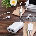 1PC White Universal 3.5mm M 1 To 2 Dual Audio Headphone Earphone Splitter Adapter Cable Double Jack Headphone Splitter