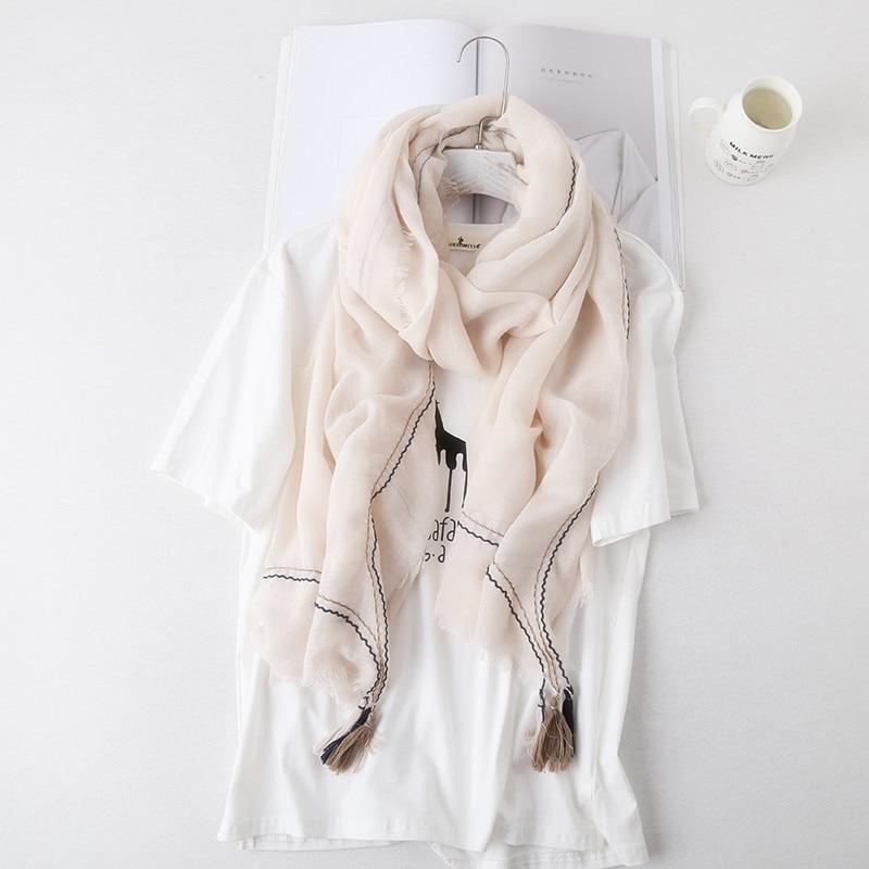 KL1104 High quality literature style summer shawl female fashion tassel all-match neckerchief women scarves