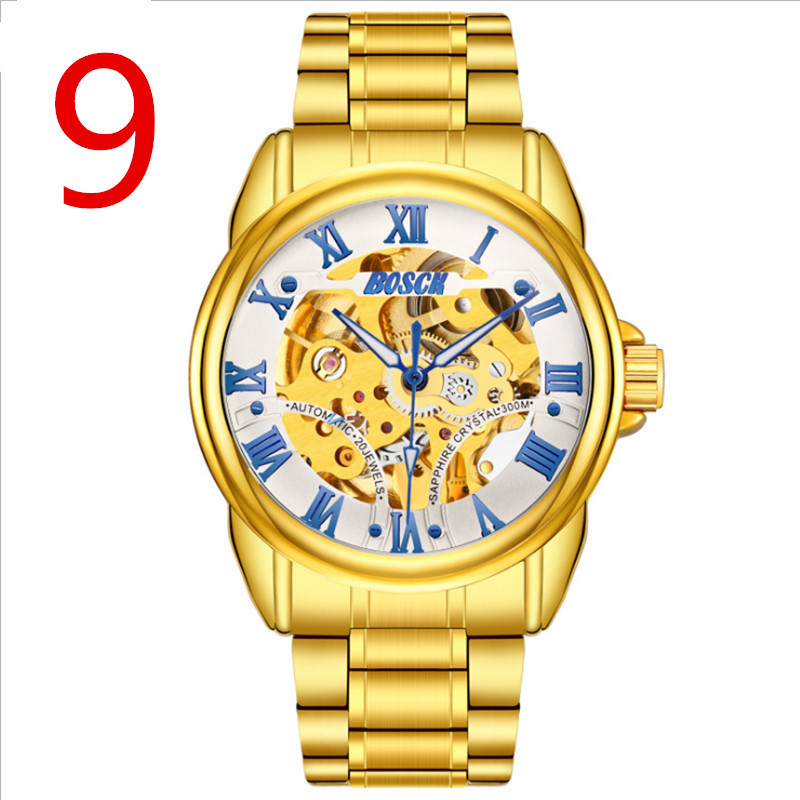 In 2018, the newly launched gold quartz luxury brand senior military watch and 22 mm stainless steel logistics male watch.In 2018, the newly launched gold quartz luxury brand senior military watch and 22 mm stainless steel logistics male watch.