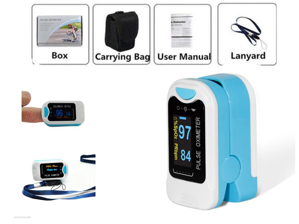 New OLED Fingertip Pulse Oximeter Finger Blood Oxygen SpO2 PR Heart Rate Monitor CMS50N/CMS50NA
